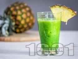 Зелено смути с коприва и ананас - снимка на рецептата